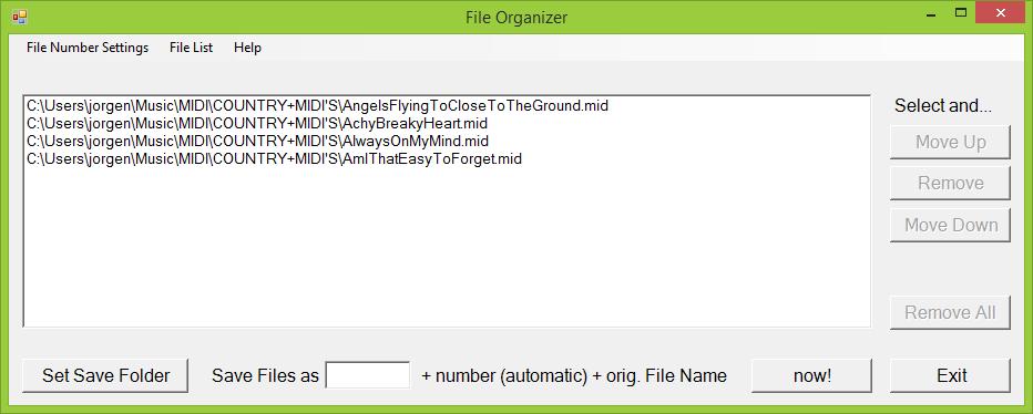 YAMAHA Keyboard - File Organizer