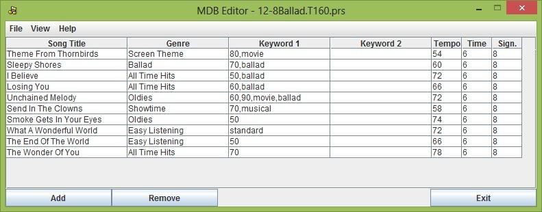 YAMAHA Keyboard - MDB Editor