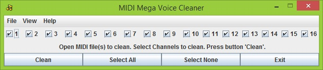 YAMAHA Keyboard - MIDI Mega Voice Cleaner